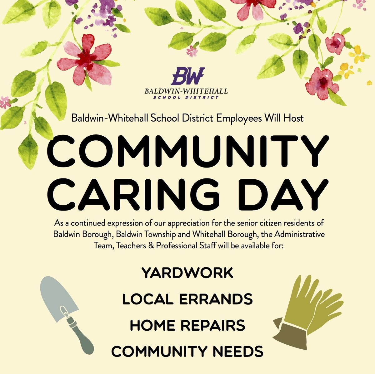 Baldwin-Whitehall School District Employees Host Community Caring Day