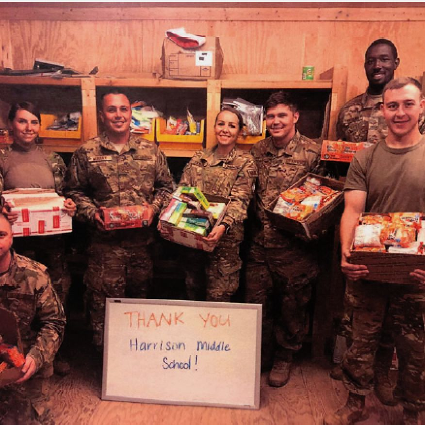 Students Make Donations to Troops