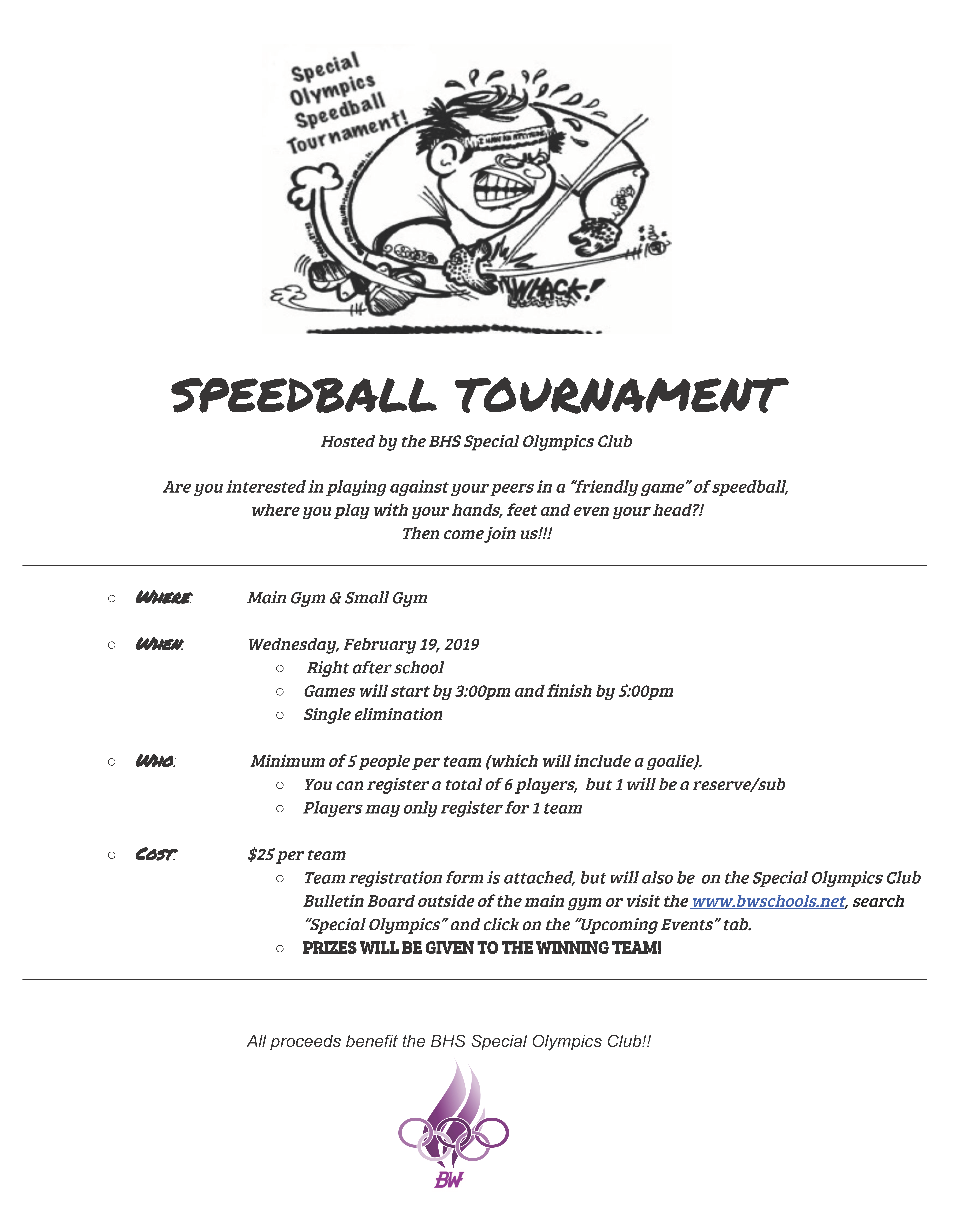 speedball tournament flyer